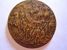 JOZEF ZACHARIAS BEM/POLISH GENERAL/HORSES/BATTLEFIELD / Bronze Medal 70 mm N127