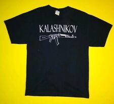 AK-47 Kalashnikov BLACK T-SHIRT RUSSIAN RIFLE MILITARY AK47 AR15 AK 47 vintage