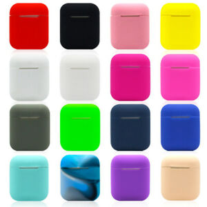 Soft Silicone Wireless Bluetooth Earphone Protective Case Cover Skin For Apple
