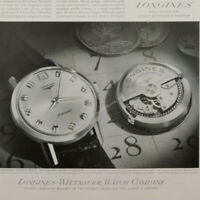 1963 Longines Grand Prize Calendar watch photo advertisement vintage print ad