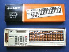 New In Box Sharp Elsi Mate El-8048 Calculator/Soroban (Abacus). Made 1979-1980.