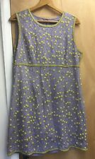 French Conection Grey With Yellow Embellished Flowers Sixe Uk 16