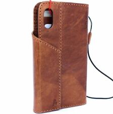 genuine leather Case for apple iphone x wallet handmade Rustic cover magnetic 3d