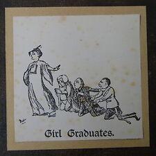 Niña titulados Hecho A Mano G /& s Gilbert /& Sullivan tarjeta de saludo Princess Ida