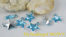 350 pcs Sky blue star acrylic charms W1733