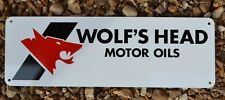 Wolfs Head Motor Oil Metal Sign Pennsylvania Crude Advertising logo Hot Rod Shop
