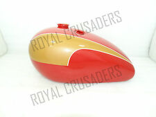 NEW TRIUMPH T140 RED AND GOLDEN PAINTED PETOL TANK (REPRODUCTION) @PUMMY