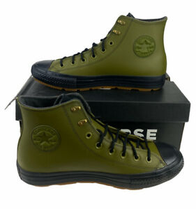 NEW Converse Chuck Taylor All Star Winter Hi Leather Green Shoes Mens Size 9