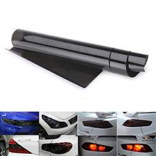 2xblack Headlight Tail Light Car Tint Film Overlay Sticker Cover 30x 120cm