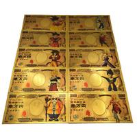 Lot 10 Billet 10000 Yen Dragon Ball Z DBZ Gold Carte Card Carddass banknote Goku