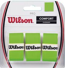 Wilson Pro Comfort Racket Overgrip Optic Green Pack of 3 Tennis Squash Badminton