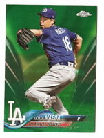 2018 TOPPS CHROME KENTA MAEDA GREEN WAVE REFRACTOR PARALLEL #46/99 (DODGERS)