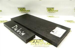 """4.5LB DELRIN MACHINABLE PLASTIC FLAT STOCK 3/4"""" X 6"""" X 17-1/2"""" & 3/4"""" x 2"""" x 9"""""""