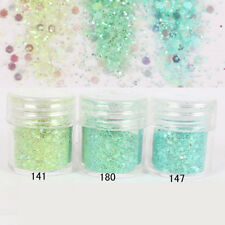 Nail Glitter Dust Powder Sequins Tips Green 3D Manicure Nail Art Decoration