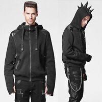 Alternative Black Rhino Horn Emo Gothic Punk Hoodies Clothing Halloween Costume