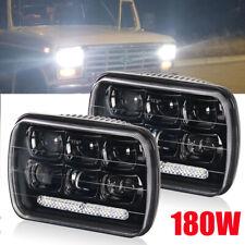 DOT 7x6'' LED Headlight /w DRL Sealed Beam Square Headlamp For Truck Pickup