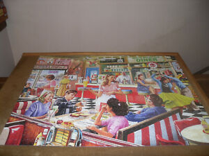 """White Mountain 1000 piece puzzle, """"American Diner"""", complete as shown"""
