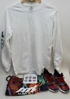 ALDO DINA SAADI Ladies Black Printed Trainer White T-Shirt Bundle S UK3 EU36