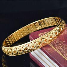 Women Lady Girl Luxury 14K Gold Filled Retro Bangle Bracelet Wedding Jewelry HOT