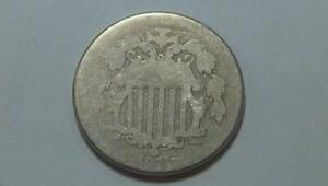 1874 Shield Nickel AG/G Condition SEE PICS Fast Shipping