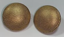 Vintage Gold Toned Round Dotted Button Set of 2 Shank 3/4""