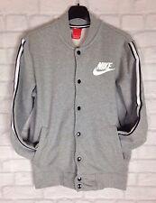 Da Uomo Vintage Retrò Grigio Giacca Bomber Nike Track Maglione Pullover Sports Athletic UK M