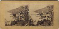 Lago Di Como Italia Foto Vintage Stereo Albumina