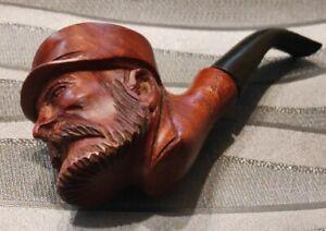 pipe sculptée  tête de POILU-  BUTZ-CHOQUIN  ST CLAUDE   Briar pipe