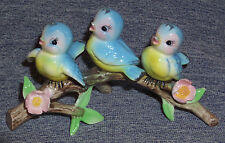 VINTAGE JAPAN NORCREST BLUEBIRD TRIO ON BRANCH FIGURINE