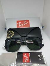 Ray-Ban 4165 601/71 Justin Sunglasses - Black/Green - Nearly Brand New