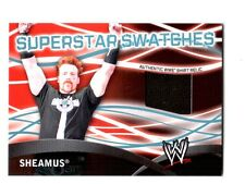 WWE Sheamus Topps 2011 Superstar Swatches Event Used Shirt Relic Card Black