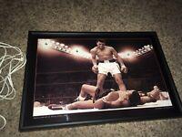 Electric Art Las Vegas NV Muhammad Ali Boxing Champion Wall Plaque Sign Light Up
