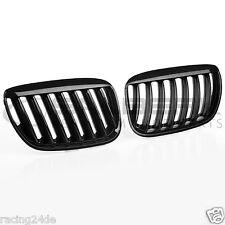schwarze Nieren Set für BMW X5 E53 FL XL-Look schwarz glänzend Kühlergrill
