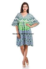 Kaftan Tunic Kimono Dress Ladies Summer Evening Gown Beach Maxi Indian Mandala