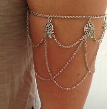 Turquoise Arm Slave Tassels Chain Upper Cuff Armband Armlet Bracelet