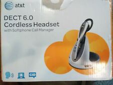 AT&T TL7910 DECT 6.0 Cordless Headset with Softphone Call Manager, Silver