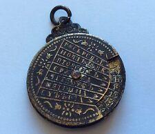 Antique Art Nouveau Perpetual Calendar Moveable Charm Brass