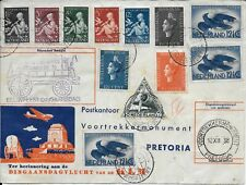 Netherlands 1938 Ffc Amsterdam to South Africa Dingaan's Day Klm Flight Cover