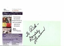 DOROTHY LAMOUR, ACTRESS (DECEASED) SIGNED INDEX CARD JSA AUTHEN. COA #N44549