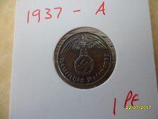 ALLEMAGNE 1 reichspfennig 1937-A cuivre Troisième Reich Coin WW2