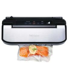 New Automatic Fresh Food Vacuum Sealer Machine Starter Bags & Rolls Sets Black