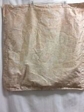 Ralph Lauren Pillow Shams 2 Euro 1 King Peach Aqua Gray Stripe BEAUTIFUL P4