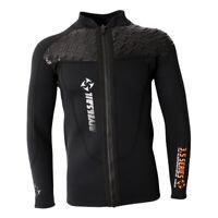 Men's 3mm Neoprene Wetsuit Top Jacket Front Zipper Long Sleeve Diving Suits