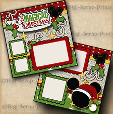 DISNEY CHRISTMAS 2 premade scrapbook pages paper piecing layout DIGISCRAP #A0187