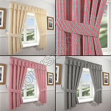 Polyester Country Curtains & Pelmets with Pencil Pleat