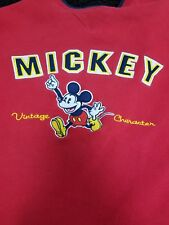 Disneyland Resort Mickey Mouse Red Pullover Crew Neck Long Sleeve Sweatshirt-S