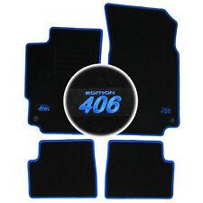 TAPIS SOL MOQUETTE LOGO BLEU SUR MESURE PEUGEOT 406 COUPE 2.0 3.0 V6 2.2 HDI