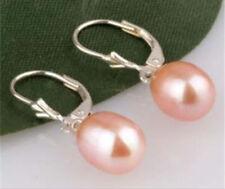 8-9 MM ROSE Akoya Pearl Earring Silver Hook JE242