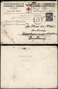 Belgium 1919 - Red Cross Cover to London England & Resent B23