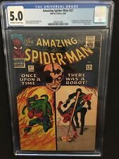 Amazing Spider-Man #37 CGC 5.0 Off White To White Pages 1st Norman Osborn Ditko
